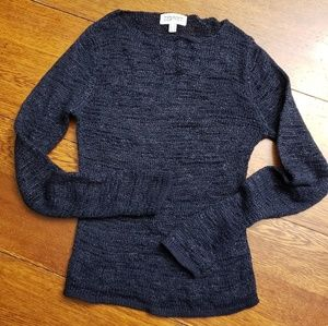 Lightweight Navy Loose Knit Pullover Sweater
